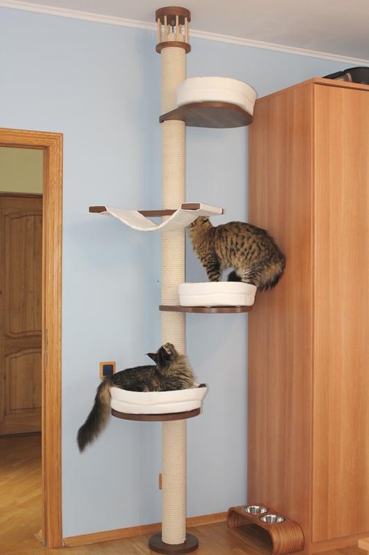 Домики для кошек под потолком своими руками