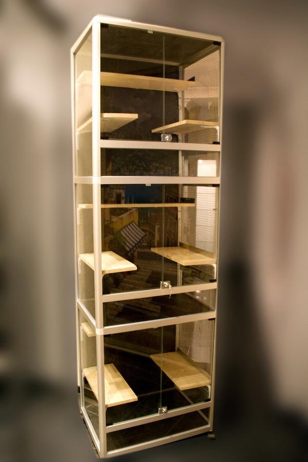 Витрина для шиншиллы В-3-01 3 этажа без тумбы