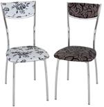 Домотека стулья, цвета сидений кожзам с рисунком