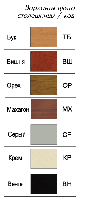 Столы с плиткой Домотека, цвета столешницы мдф